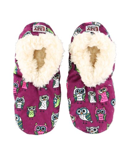 Adult Night Owl Fuzzy Slippers - Lazy One®